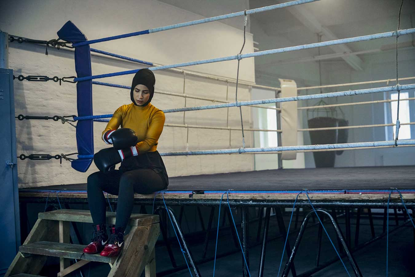 header nike zeina nassar boxerin boxen fight for your dreams