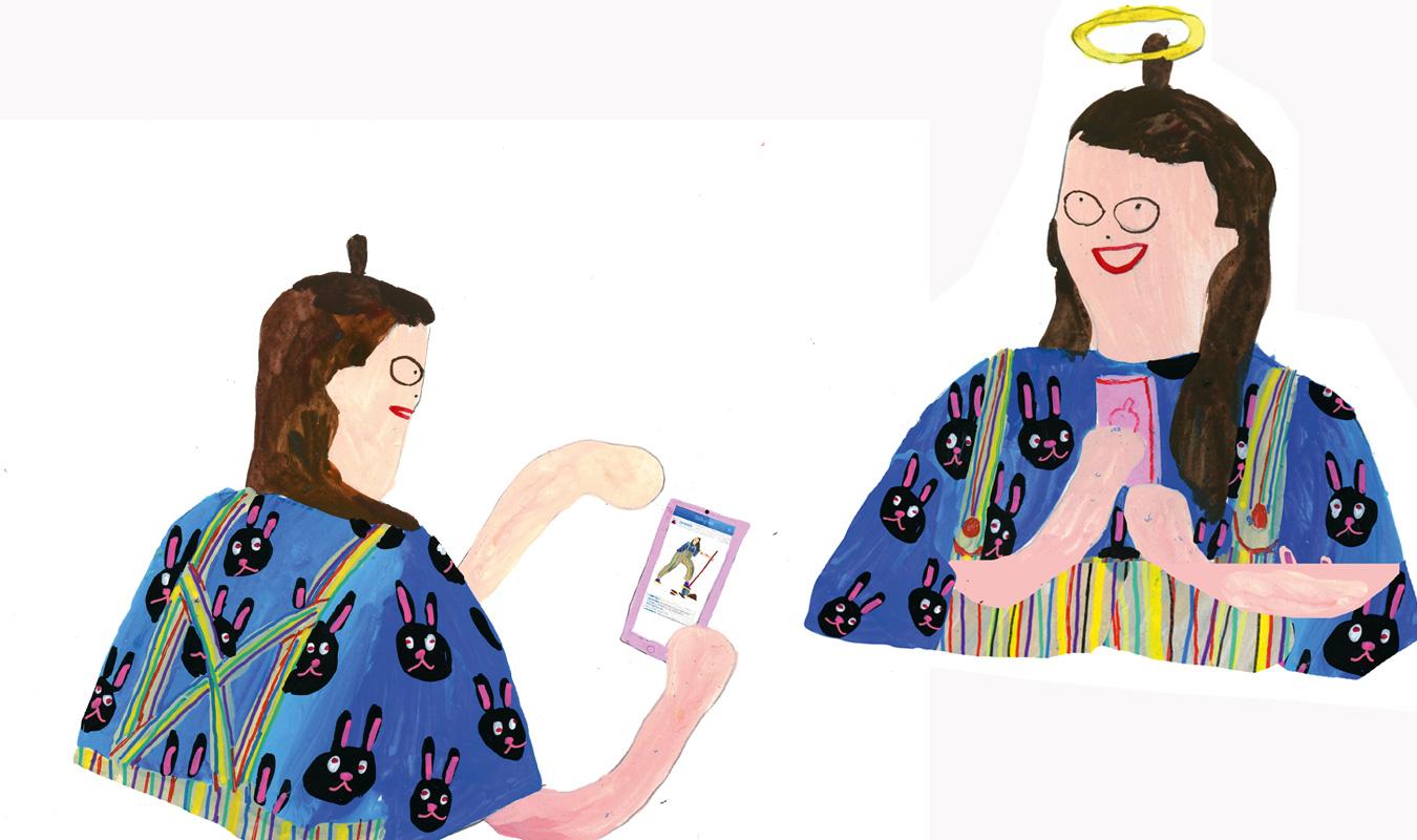 Soziales Engagement Tara Booth Illustration Heiligenschein