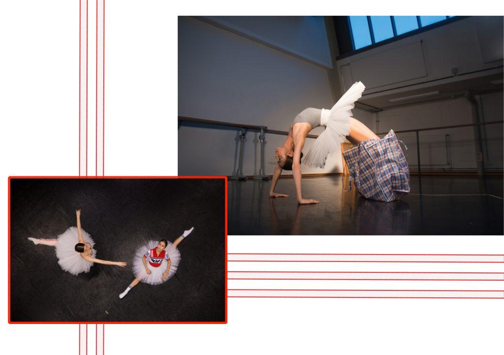 Ballett im Staatsballett Berlin auf der Bühne mit Tänzerinnen Ugly Fashion tut Sloggi Body