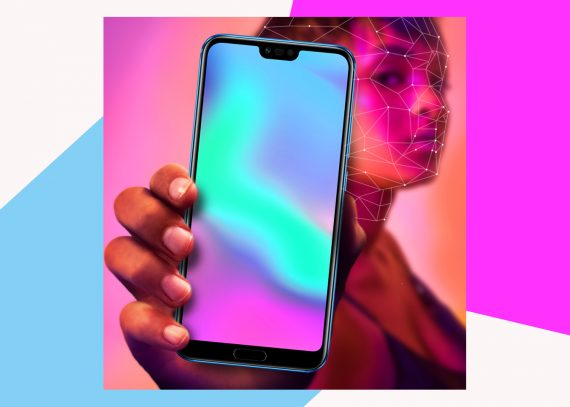 Huawei Honor10 Handy Holographic Selfie Smartphone Collage