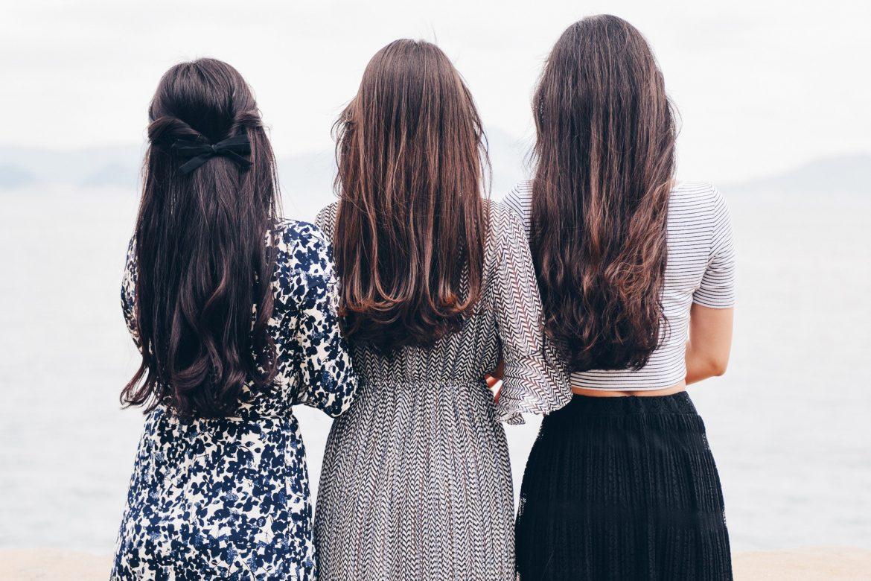 Frauen mit langen Haaren SuperShe Island Maxikleid