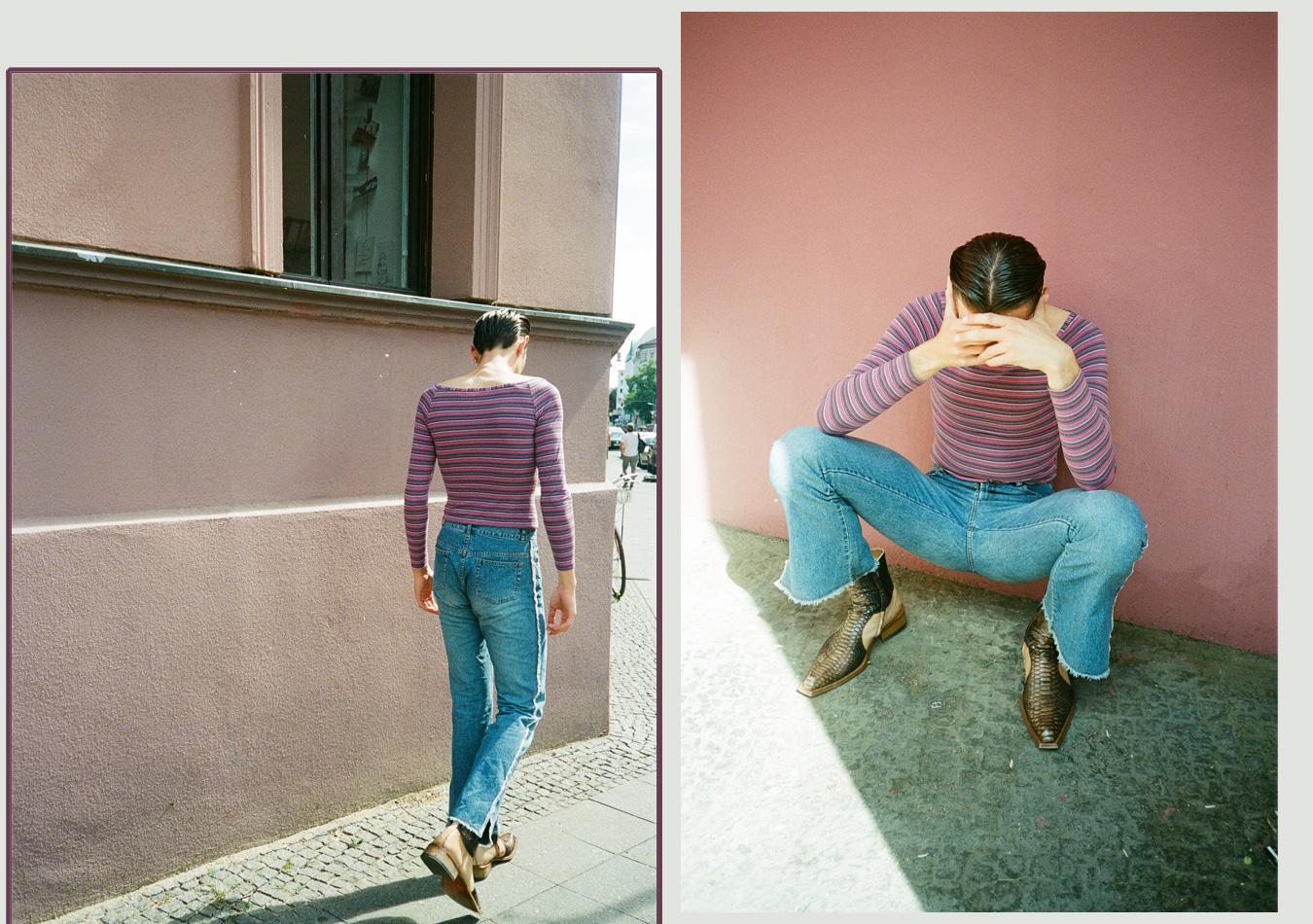 asexuell-asexualität-streifenpullover-jeans-mann-cowboystiefel