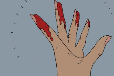 menstruation-zyklus-regel-blut-zykluscoach-hand-illustration