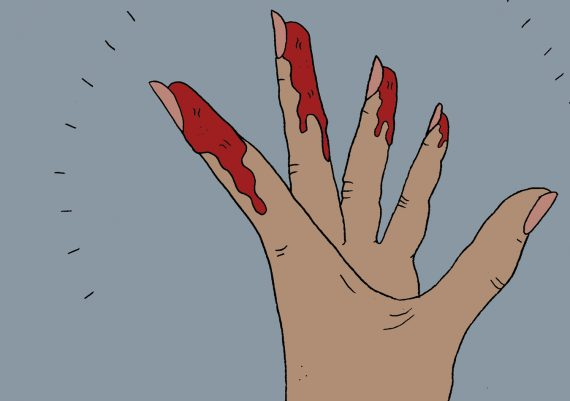 menstruation-zyklus-regel-blut-zykluscoach-hand-illustration
