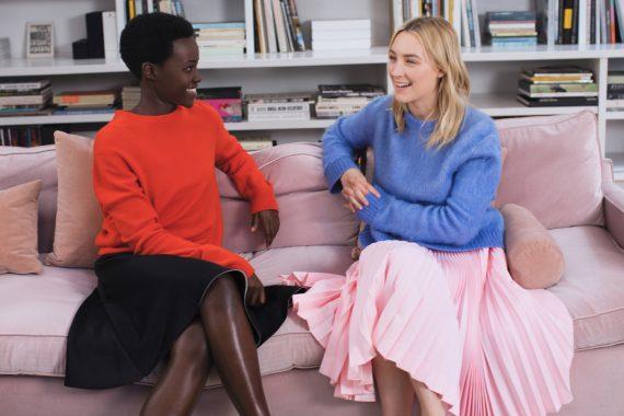 saoirse ronan lupita nyongo interview calvin klein fragrance